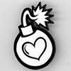 Enamel Pin: Luv Bomb