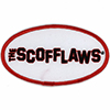 Embroidered Patch: The Scofflaws - Black and Red on White