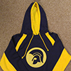 Sports Pullover Fleece Hoodie: Trojan Helmet