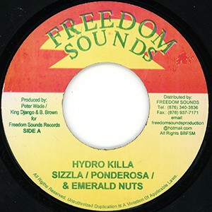 "7"" (Jamaican import): Sizzla Ponderosa & Emerald Nuts/Freedom Sounds All Stars - Hydro Killa/Hydro Killa Dub"