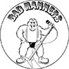 "1"" Pin: Bad Manners - Fatty Buster Bloodvessel"