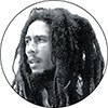 "1"" Pin: Bob - Dreadlocks Rasta"