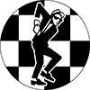 "1"" Pin: Walt Jabsco - Skanking on the Checkerboard"