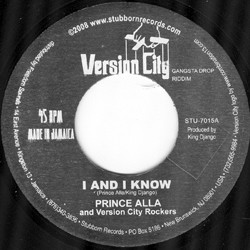 "Prince Alla and Version City Rockers: I And I Know/I And I Dub (Mix 5) (7"" (Jamaican import))"