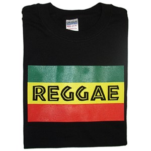 T-Shirt: Reggae Flag (3 colors on Black)
