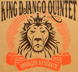 "T-Shirt: King Django Quintet ""Brooklyn Hangover"" - 2 colors on Tan"